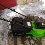 продам электрическую газонокосилку Greenworks 3300, Екатеринбург