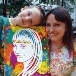 Флип-портрет на холсте своими руками! Эмоции и впечатления!, Екатеринбург