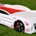 Кровать-машина для девочек R2 Ketty Car white, Екатеринбург