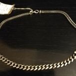 Мужская серебряная цепь производства Италии, Екатеринбург