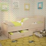 Кроха, кровать детская с бортиком, млечный дуб, 80*190 см (ТМК), Екатеринбург
