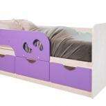 Детская кровать Минима Лего лиловый сад (Бтс), Екатеринбург