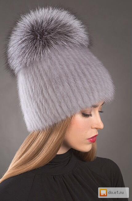 новая вязаная женская шапка норкачернобурка фото цена 350000