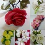 Цветы из полимерной глины в наличии и под ваш заказ, Екатеринбург