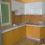 Кухня на заказ угловая белый/оранжевый (Финист), Екатеринбург