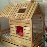 Детская кровать-домик с окном и крышей (Мир мебели), Екатеринбург
