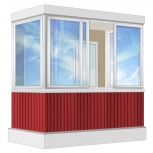 Балкон Provedal Алюминиевый 2400 П-образное, Екатеринбург