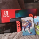 Консоль Nintendo Switch Blue/Red +Pokemon Sword, Zelda, Екатеринбург