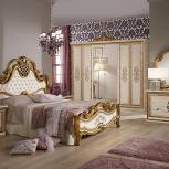 Спальня Анита беж Комплект с 6-ти дверным шкафом (Авт), Екатеринбург