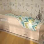 Кроха-2, Детская кровать с ящиком, Млечный Дуб, 80*160 см (ТМК), Екатеринбург
