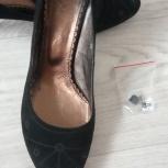 Продам замшевые черные туфли 38 размера, Екатеринбург
