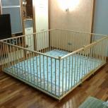 Большой детский деревянный манеж 1,7х2,0м с калиткой, Екатеринбург