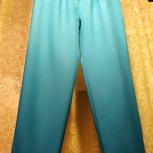 Новые летние сине-бирюзовые укороченные брюки с защипами и отворотами, Екатеринбург