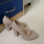 Туфли кожаные бежевые размер 35-36, Екатеринбург