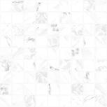 Плитка Декор Cersanit  300х300 Белый,Серый, Екатеринбург