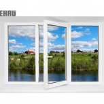 Окно ПВХ Rehau Blitz 2100х1400 (3С/3К) Поворотное, Екатеринбург