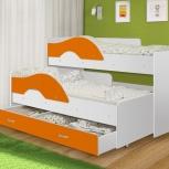 Кровать Матрешка белый + оранж (ТМК), Екатеринбург