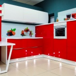 Кухня на заказ Красный глянец (Финист), Екатеринбург