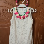 Оригинальное нарядное платье с ободком, размер 116, Екатеринбург