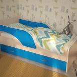 Детская кровать Кроха-2, Дуб / Синий, 80*160 см (ТМК), Екатеринбург