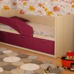 Детская кровать Дельфин МДФ Малина (Миди), Екатеринбург