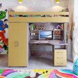 Кровать-чердак Аракс бетон-зира, Екатеринбург