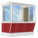 Балкон Provedal Алюм. 2400 Г с ПВХ-панелями, Екатеринбург