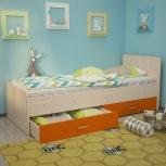 Кровать Антошка, 80*190 см, оранж (ТМК), Екатеринбург