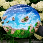 Интерьерная картина «море» из эпоксидной смолы, Екатеринбург
