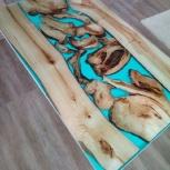стол из эпоксидной смолы в стиле лофт, Екатеринбург