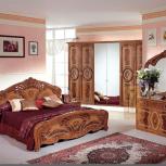 Модульная спальня Роза орех Комплект с 6-ти дверным шкафом (Авт), Екатеринбург