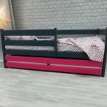 Детская кровать-манеж Сонечка графит-розовый, Екатеринбург