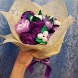 Букет из атласных лент с конфетами, Екатеринбург