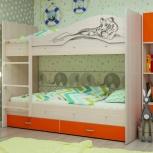 Двухъярусная кровать Мая Сафари Оранж, Екатеринбург