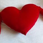 Подушка декоративная в виде Сердца, Екатеринбург