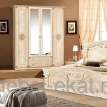 Модульная спальня Рома беж Комплект с 4 - х дверным шкафом (Авт), Екатеринбург