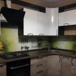 Кухня на заказ угловая вогнутый шкаф большая (Финист), Екатеринбург