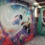 Художественное оформление, граффити оформление, роспись стен, Екатеринбург