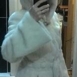 Норковая шуба светлая  с капюшоном, Екатеринбург