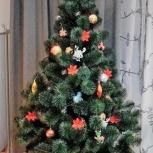Искусственная елка c шишками + В подарок гирлянда, Екатеринбург