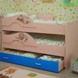Кровать двухъярусная выкатная Матрешка Сафари Голубой (ТМК), Екатеринбург