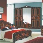 Модульная спальня Роза могано Комплект с 6-ти дверным шкафом (Авт), Екатеринбург