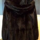 Норковая шуба черная с капюшоном, Екатеринбург