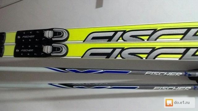 Комплект  беговые лыжи Fischer + палки + ботинки б у Цена - 9000.00 ... ccc3e84918e