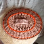 Плетеная хлебница из бумажной лозы для кухни, Екатеринбург