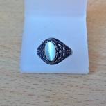 Кольцо - перстень черненое посеребрение с лунным камнем, Екатеринбург