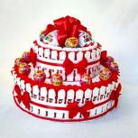 Торт из Киндер сюрпризов и шоколада на заказ, Екатеринбург