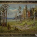 """М.Хворостов, картина """"Осень""""  х/м, 60-80,1998 г, Екатеринбург"""