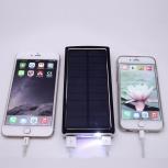 Универсальный, внешний аккумулятор с солнечной батареей. Power bank, Екатеринбург