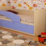 Детская кровать Дельфин МДФ Голубой (Миди), Екатеринбург